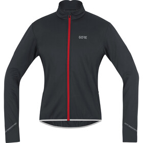 GORE WEAR C5 Windstopper Chaqueta Térmica Hombre, black/red